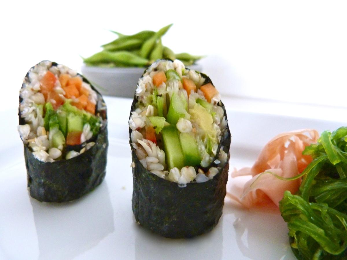 Vegetarian Buckwheat Sushi