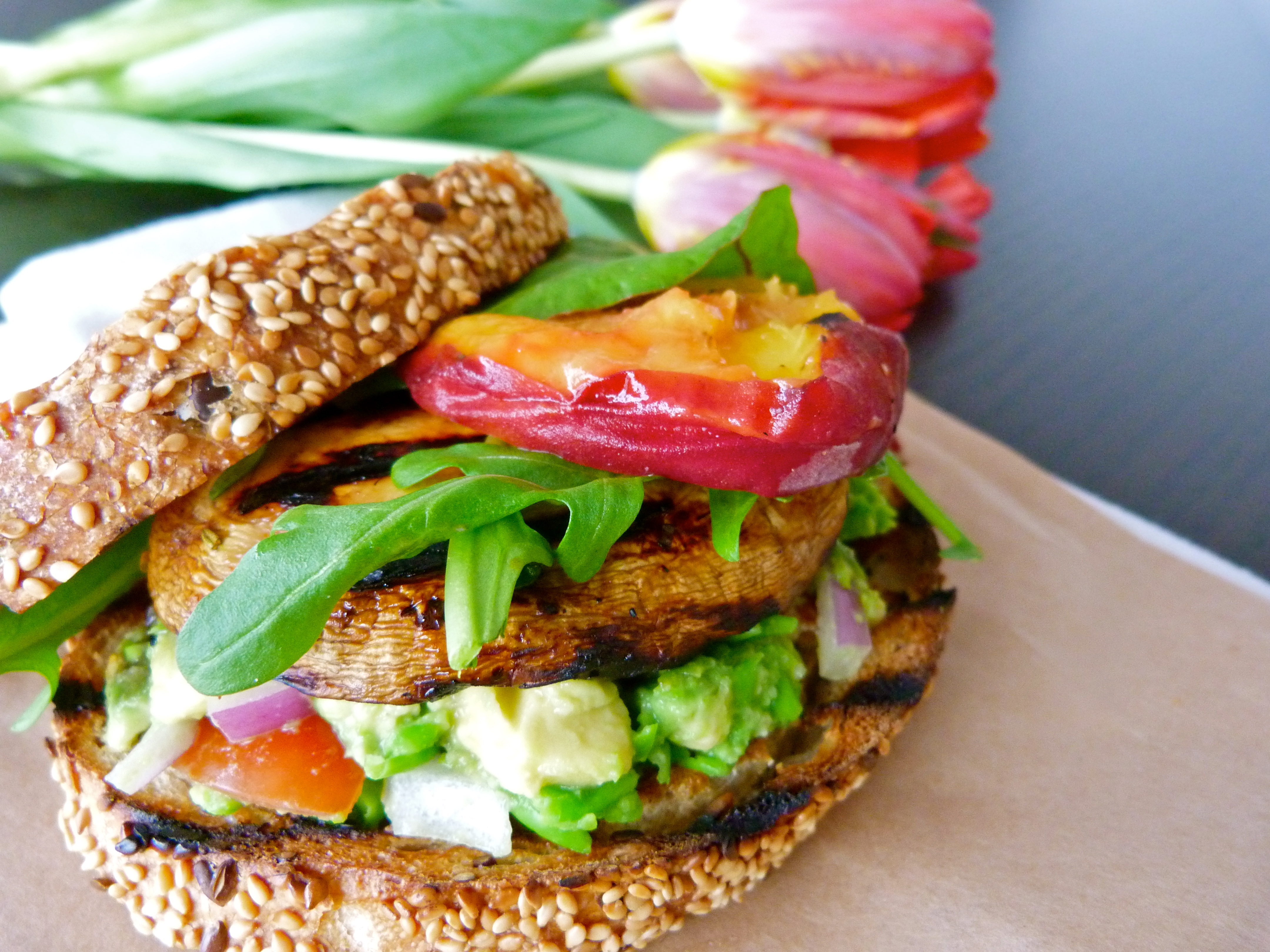 Grilled Portobello Mushroom Sandwiches With Arugula And ...
