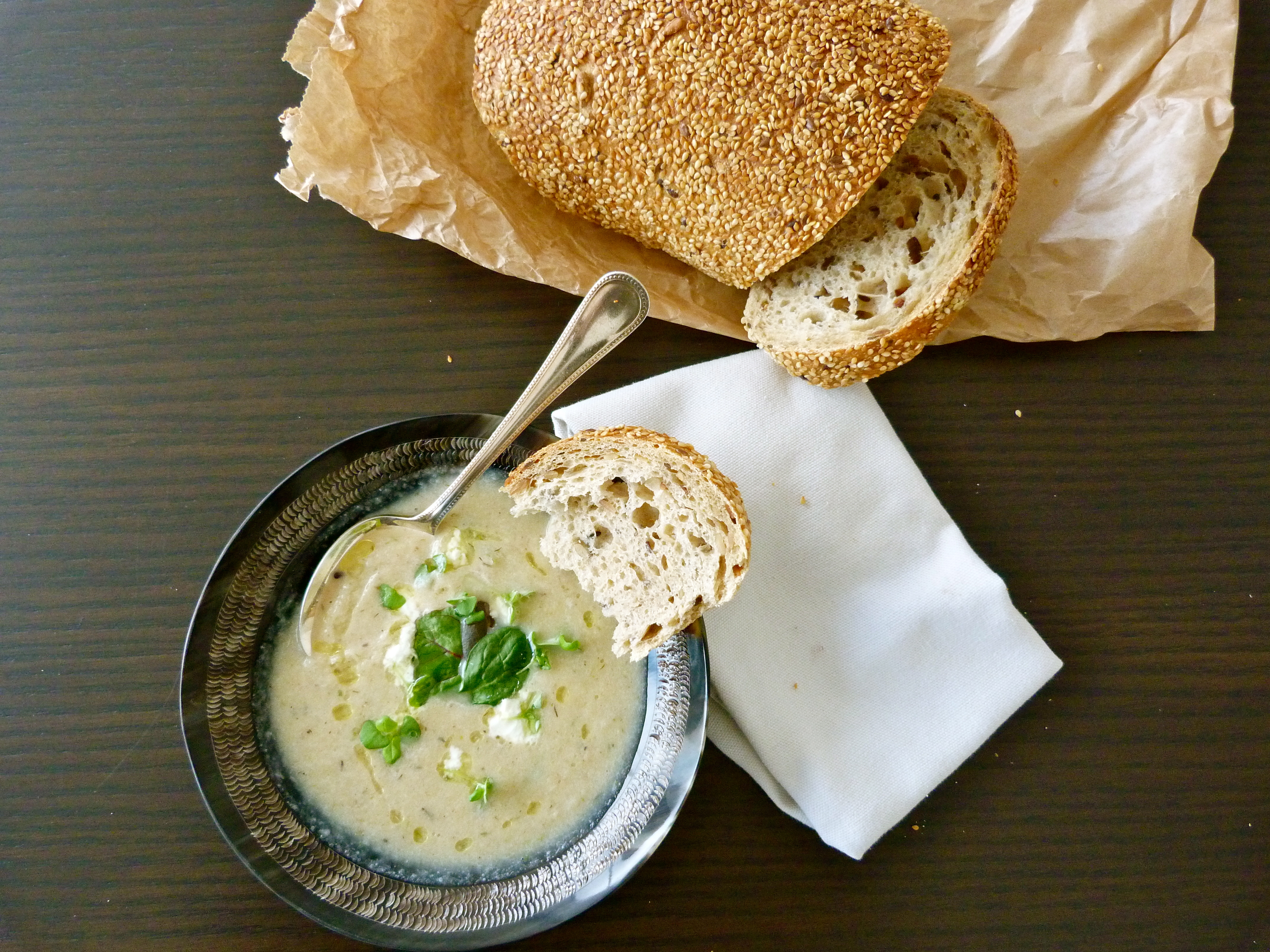 Silky Cauliflower and Garlic Soup with White Truffle Oil ...
