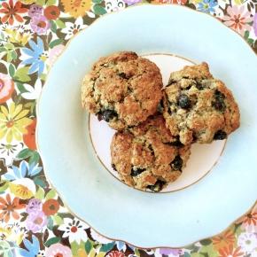 Little Oaty, Blueberry and Poppy SeedScones