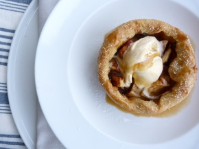 iBake for Steve: Apple and Chambord Tart with Fleur de Sel Caramel Sauce