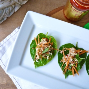 Zesty Crab, Chilli and Kaffir Lime on BetelLeaves