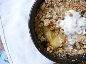 Honey, Pear and Ginger Crumble