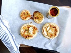 Apple and Manchego Tarts with Thyme & HoneyGlaze