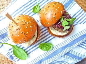 Kangaroo and Chorizo Burgers with Beetroot Relish