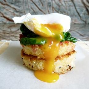Polenta Patties with Poached Egg + BeetrootRelish