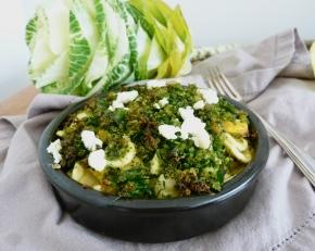Broccolini and PumpkinMac+Cheese