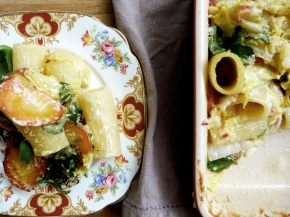 Giant Rigatoni, Heirloom Carrot + White Cabbage Bake