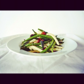 Roasted Green Bean, Sage + Almond Pasta