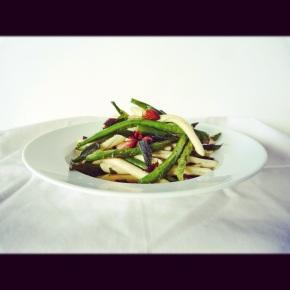 Roasted Green Bean, Sage + AlmondPasta