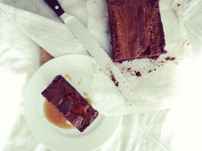 Salted Almond Milk Caramel Brownies