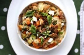 Tri-coloured Quinoa, Spinach, Ricotta + Butternut Pumpkin