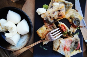 Caprese Potstickers with Basil +Balsamic
