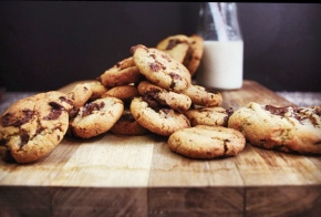 Salted Dark Chocolate + Vanilla Bean Cookies