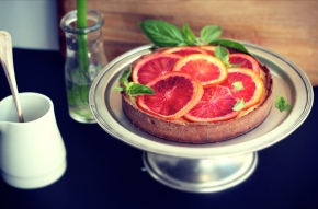 Blood Orange + Chocolate Tart