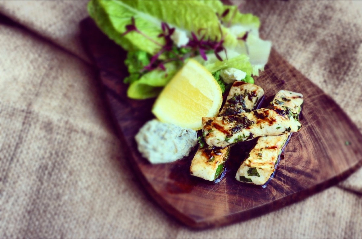 Grilled Swordfish Fingers