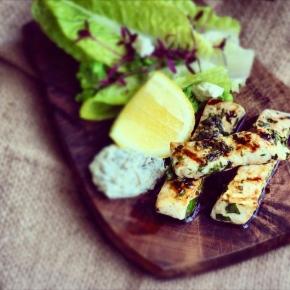 Grilled Swordfish Fingers