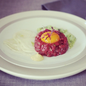 Wallaby Tartare with Avocado andFennel