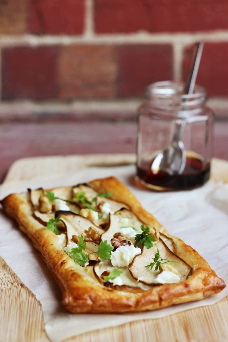 Pear Tart with Goats Cheese + Honeyed Walnuts | Finger ...