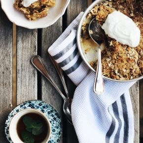 Pear, Mint + GingerCrumble
