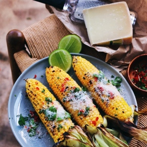 Grilled Corn with Truffle Oil, Chilli + Parmesan