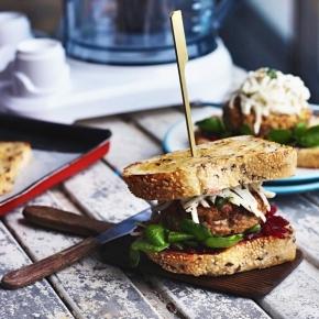 Crispy Duck Sandwich with Lemon Daikon Rémoulade + BeetrootRelish