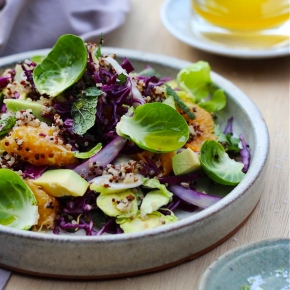 Quinoa with Fennel, Tangelo, Avocado +Herbs