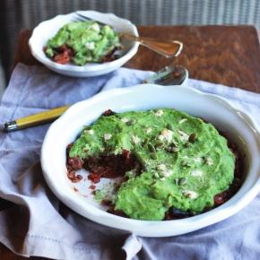 Lentil + Beetroot Shepherd's Pie with Kale + CauliflowerMash