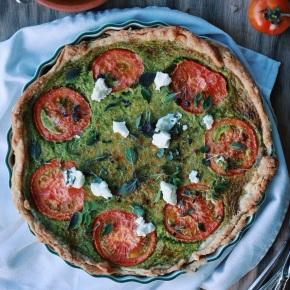 Spinach, Tomato + Goats CheeseTart