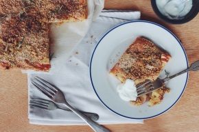 Apple + Millet Crumble Cake