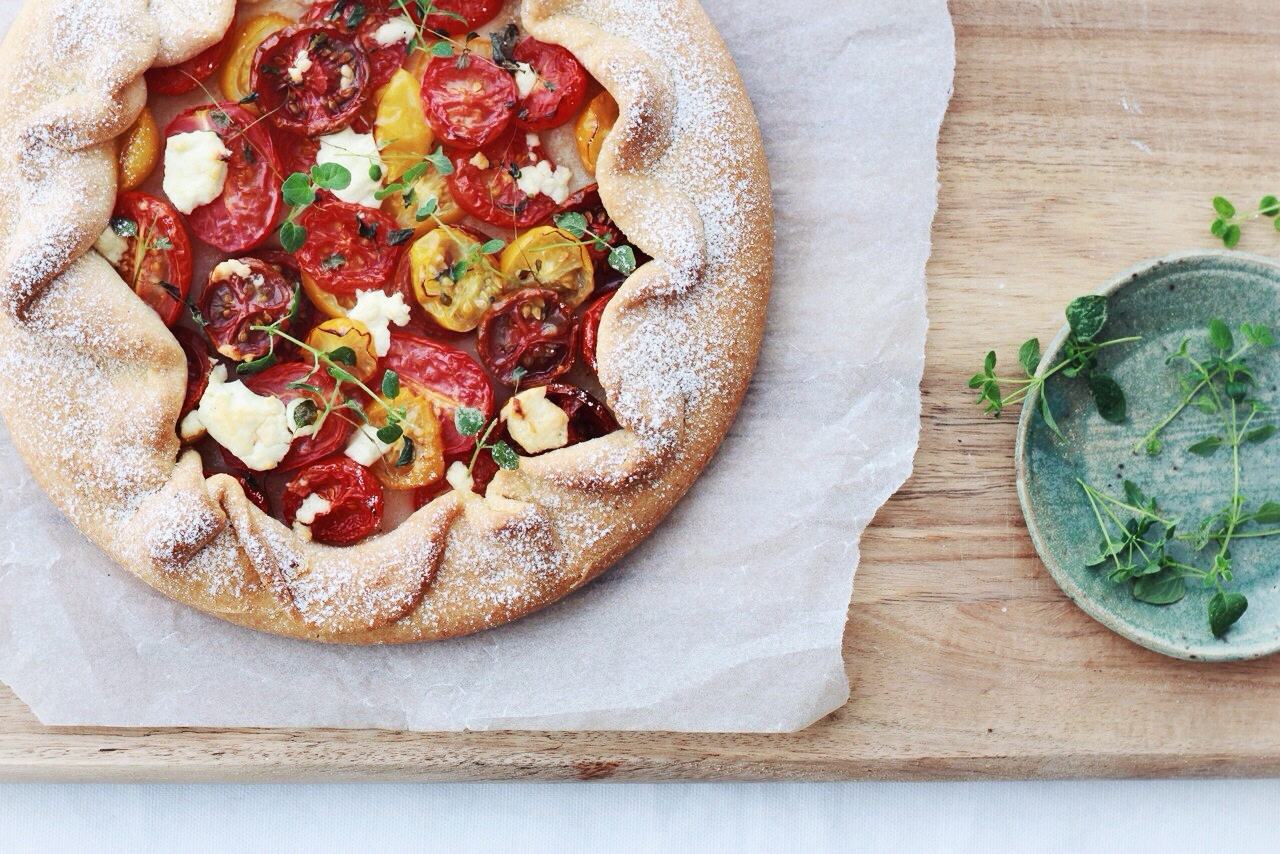 Tomato Crostata www.fingerforkknife.com